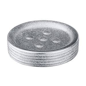 Srebrny dozownik ceramiczny do mydła Wenko Polaris Juwel