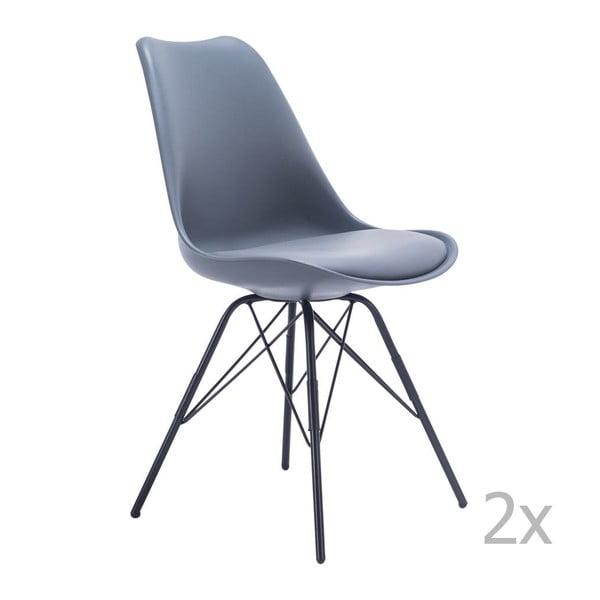 Zestaw 2 szarych krzeseł House Nordic Oslo