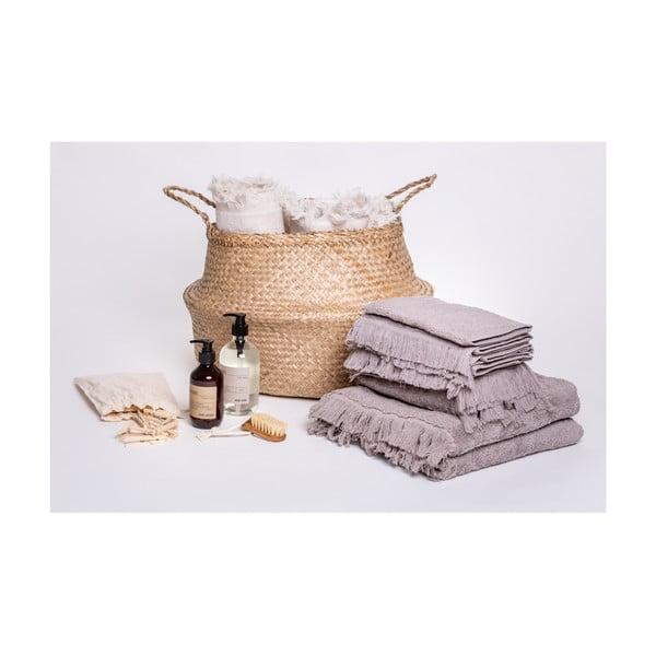 Zestaw 6 szarych ręczników i 2 ręczników kąpielowych ze 100% bawełny Bonami