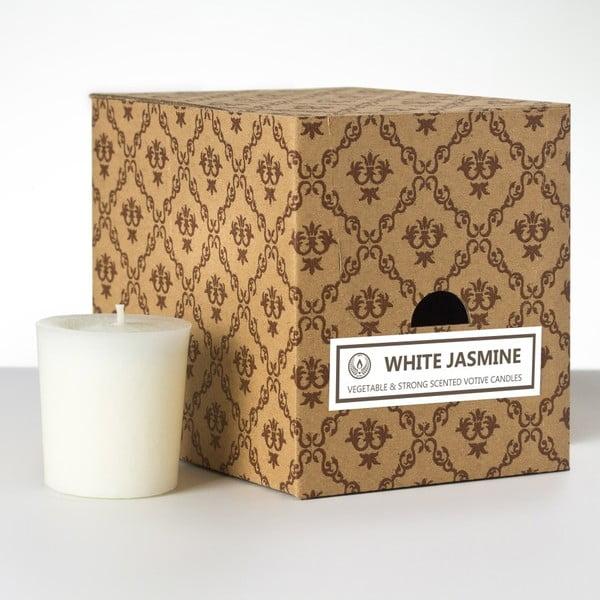 Zestaw 12 świeczek zapachowych White Jasmine, 15 godzin palenia