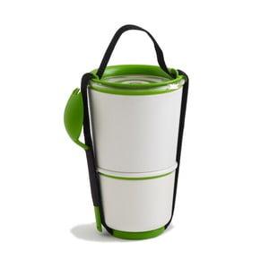 Pojemnik obiadowy, biały/zielony