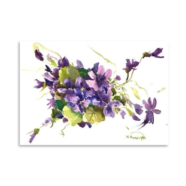 Plakat Violet Flowers (projekt Suren Nersisyan)