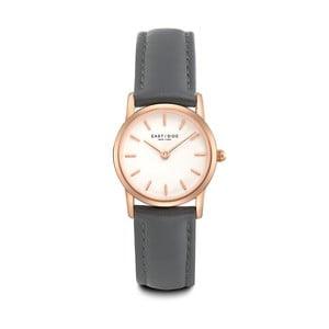 Zegarek damski z szarym skórzanym paskiem i cyferblatem w kolorze różowego złota Eastside Elridge