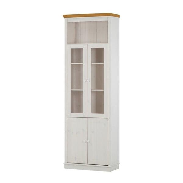 Dodatkowe przeszklone drzwi do regału z drewna sosnowego Støraa Annabelle