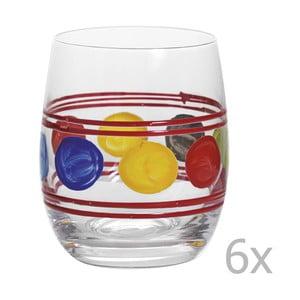 Zestaw 6 szklanek Summer Red