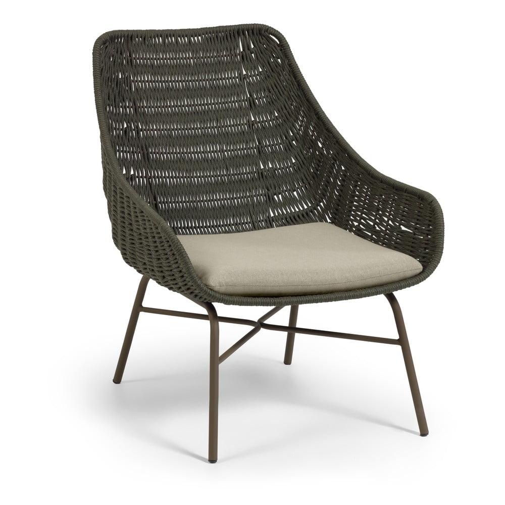 Zielony fotel ogrodowy La Forma Abeli