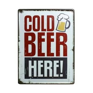 Tablica Cold Beer, 30x40 cm