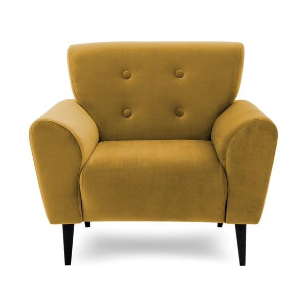 Musztardowy fotel Vivonita
