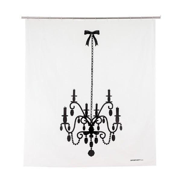 Zasłona prysznicowa Black Luste, 200x180 cm