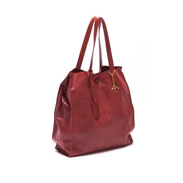 Skórzana torebka Renata Corsi 892 Rosso