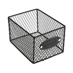 Czarny koszyk metalowy Versa