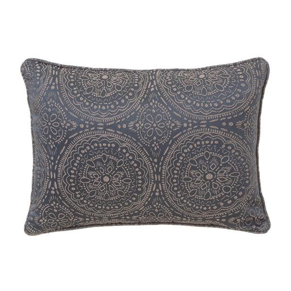 Szara poduszka bawełniana Unimasa Vegas, 45x33 cm