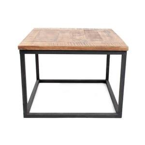 Czarny stolik kawowy z blatem z drewna mangowca LABEL51 Box