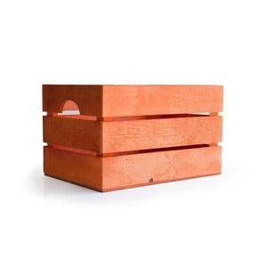 Rustykalna skrzynka drewniana Really Nice Things, pomarańczowa
