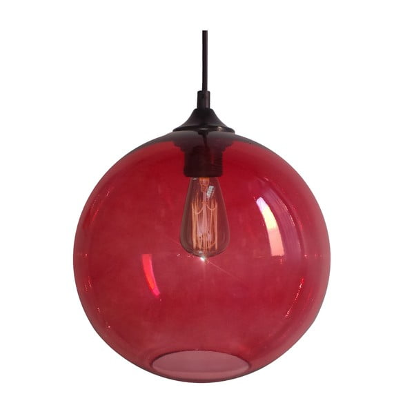 Lampa sufitowa Edison, czerwona