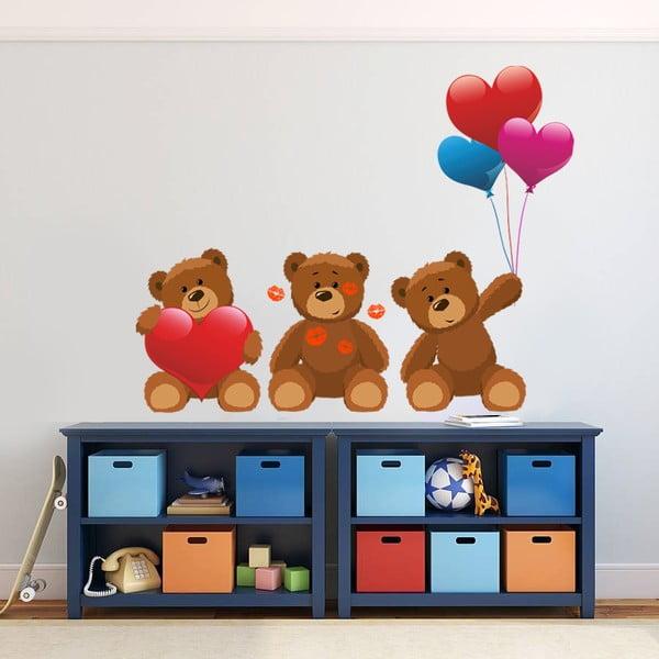 Naklejka na ścianę Trzy niedźwiadki, 60x90 cm