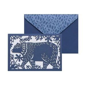 Zestaw   10 kart okolicznościowych Portico Designs FOIL Folklore Bear
