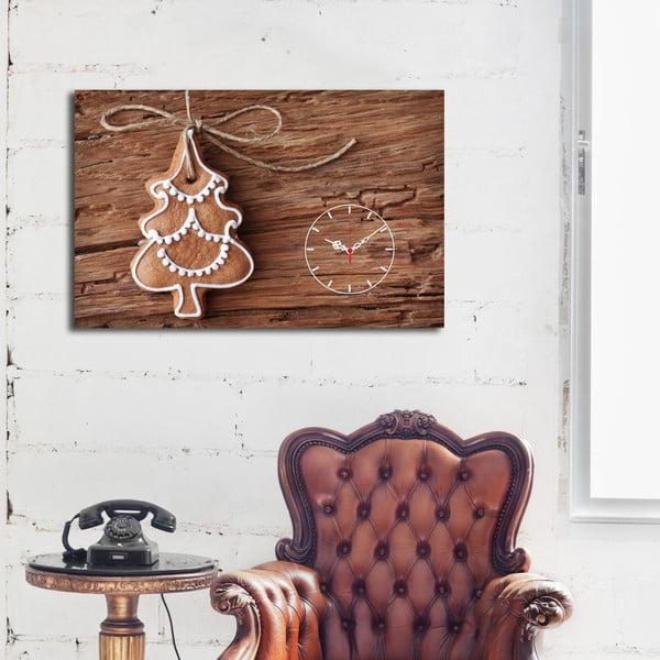 Obraz z zegarem Christmas no. 1, 45x70 cm