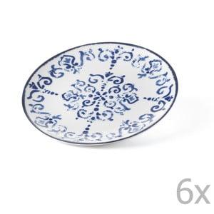 Zestaw 6 talerzyków Antico Blue, 19.5 cm