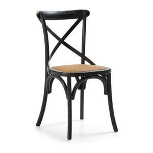 Krzesło Silea, czarne/naturalne