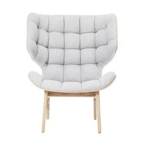 Kremowy fotel NORR11 Mammoth Fluffy