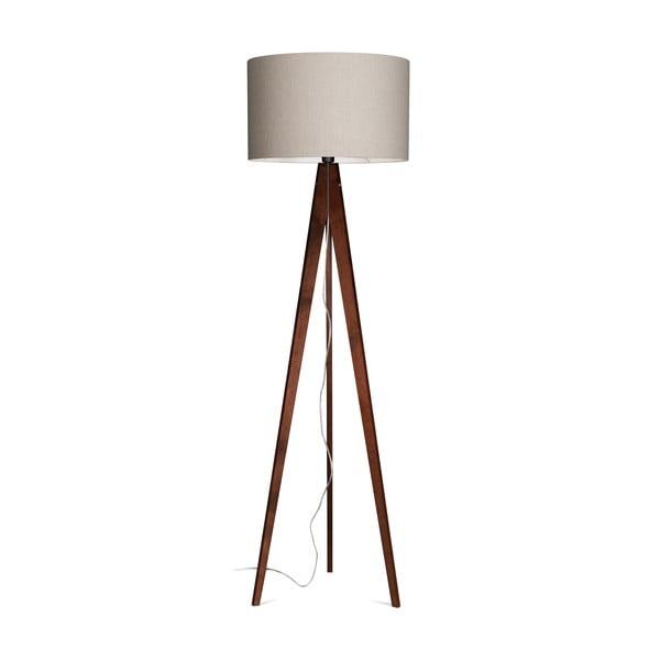 Lampa stojąca Artist Grey Linnen/Dark Brown, 125x42 cm