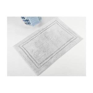 Szary ręcznie tkany dywanik łazienkowy z bawełny premium Margot, 50x75 cm