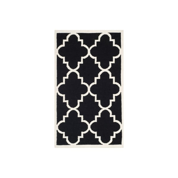 Wełniany dywan Alameda 91x152 cm, czarny