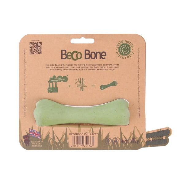 Gumowa kość Bone Small, zielona