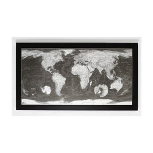 Mapa świata The Future Mapping Company Monochrome World Map, 130x72 cm