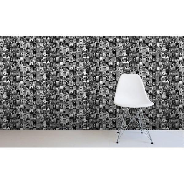 Rolka tapety Czarno-białe życie, 53x1005 cm