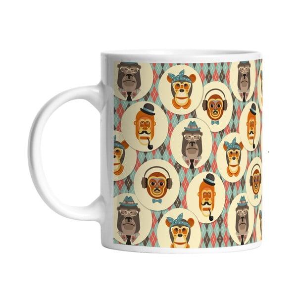 Ceramiczny kubek Retro Monkeys, 330 ml