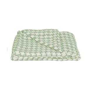 Koc Pied de Poule Green, 150x180 cm