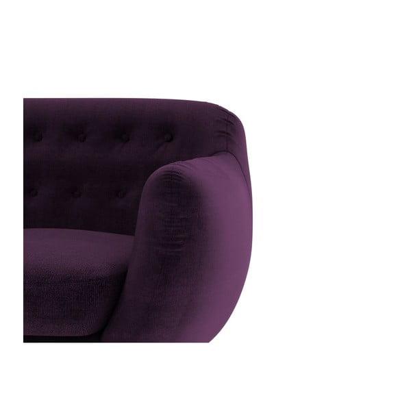 Trzyosobowa sofa Indigo, fioletowa