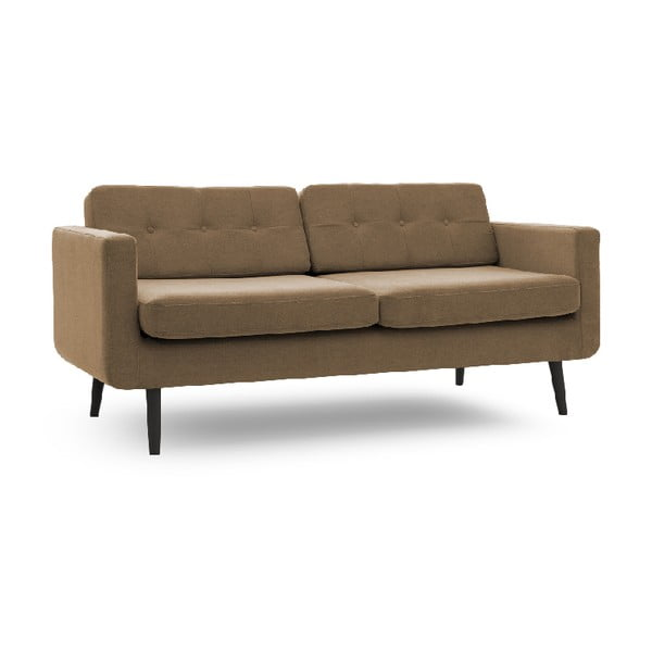Sofa trzyosobowa VIVONITA Sondero Light Brown, czarne nogi