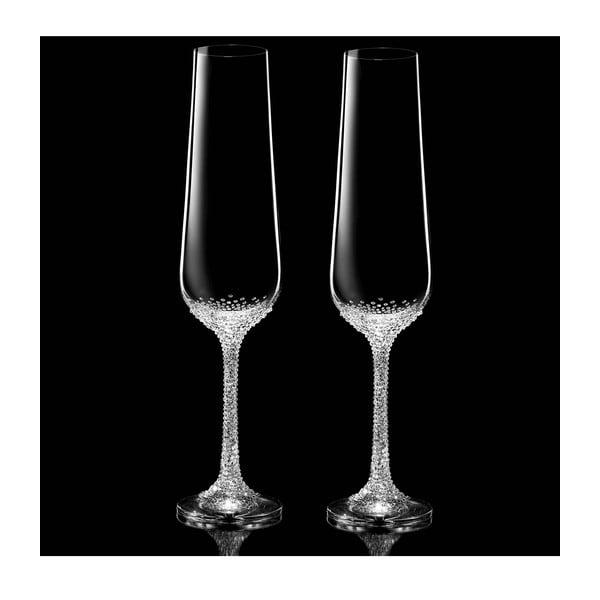 Zestaw 2 kieliszków do szampana Artemis ze Swarovski Elements