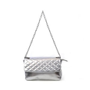 Skórzana torebka Bella, srebrna