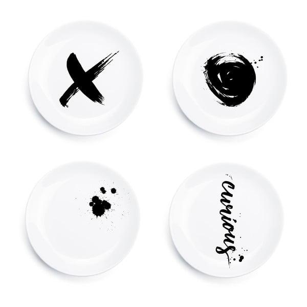 Zestaw 4 talerzy Ink Plates