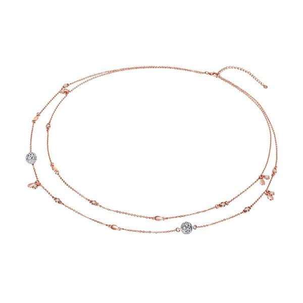 Naszyjnik z kryształami Swarovski Lilly & Chloe Goldeno