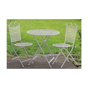 Zestaw 2 krzeseł i stolika ogrodowego Vintage Deco