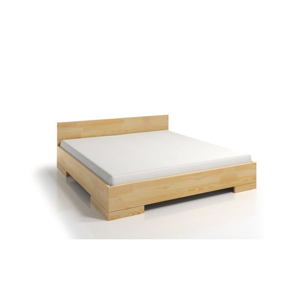 Łóżko 2-osobowe z drewna sosnowego SKANDICA Spectrum Maxi, 140x200 cm