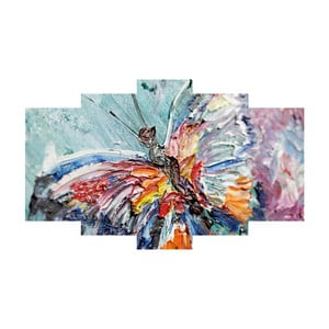 Pięcioczęściowy obraz Colorful