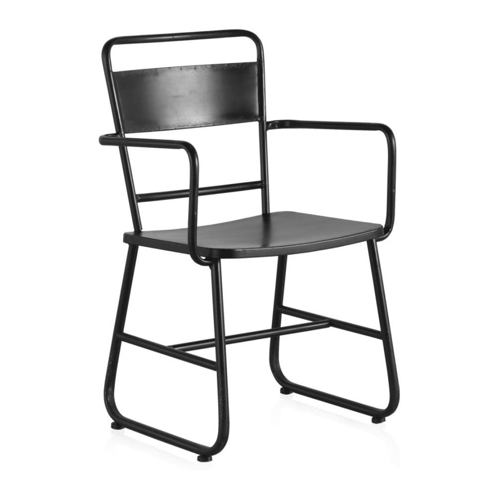 Czarne metalowe krzesło biurowe Geese Gerome
