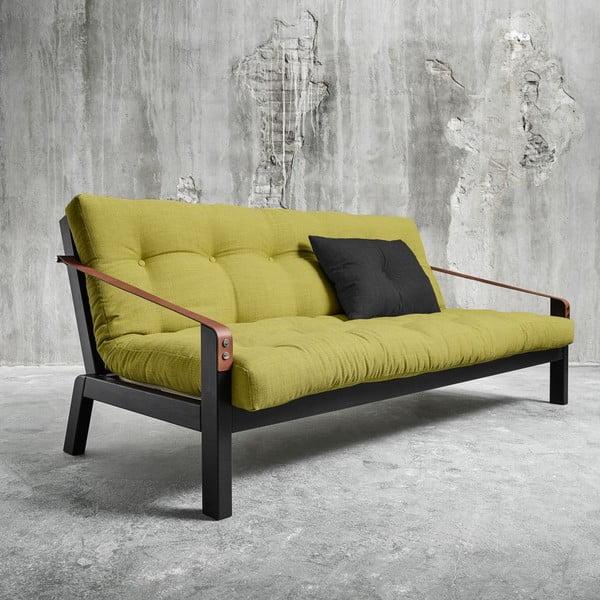 Sofa rozkładana Karup Poetry Black/Avocado Green/Dark Grey