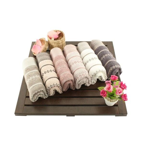 Zestaw 6 ręczników Bombeli Wash, 30x50 cm