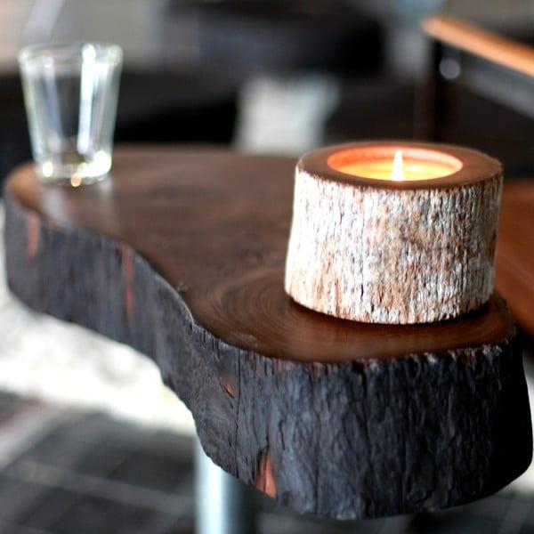 Palmowa świeczka Legno Wood o zapachu miodu, 120 godz.