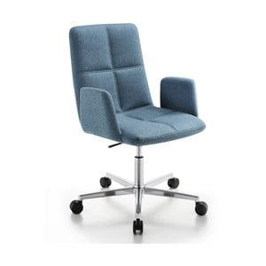 Krzesło biurowe na kółkach Uno Zago, zielono-niebieskie
