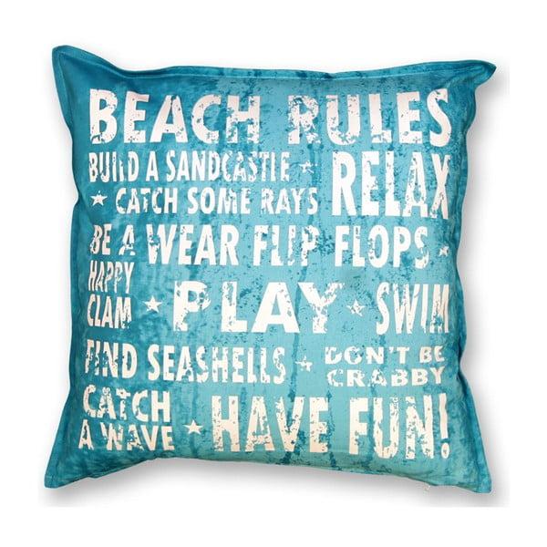 Poduszka Beach 45x45 cm, niebieska