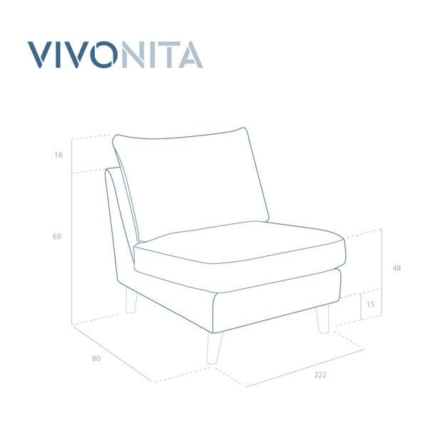 Brązowy fotel z czarnymi nogami Vivonita Bill