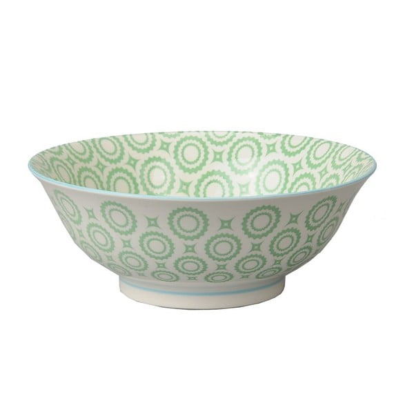 Porcelanowa miska Soba Colored Green, 21x7,8 cm